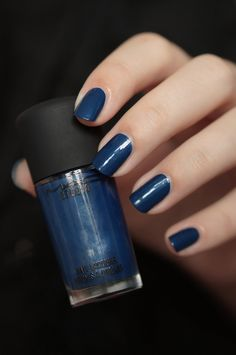 MAC Studio Nail Lacquer, Midnight Ocean swatch