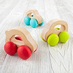 These wooden toy car