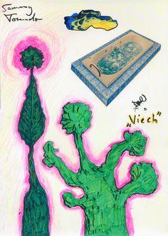 """''Viech'' (""""Creature""""), 1989 by Sammy Tornado - Abstrakter Surrealismus / Metaphysische Kunst"""