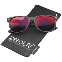 cdf332c00e0 zeroUV - Flat Matte Reflective Mirror Color Lens Large Horn Rimmed Style  Sunglasses - UV400 (