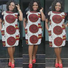 afrikanisches kleid African dress made to order for ALL SIZES. High quality fabrics are use for a great finish. Dresses are made by a professional seamstress and shipped out fast f Short African Dresses, Latest African Fashion Dresses, African Print Fashion, Ankara Fashion, Africa Fashion, African Prints, African Fabric, Emo Fashion, Short Dresses
