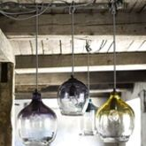 Eclectic Hand Blown Glass Pendant Lights