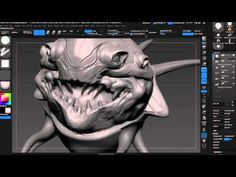 Tips & tricks on building compelling creatures in ZBrush with Wacom Cintiq - YouTube