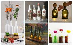 18 Really Amazing Ways To Recycle Wine Bottles Empty Wine Bottles, Recycled Wine Bottles, Recycled Glass, Ideas Decoracion Navidad, Home Bar Designs, Closet Designs, Art Designs, Fall Flower Arrangements, Ways To Recycle
