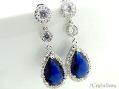 Wedding Jewelry Bridal Earrings Bridesmaid by MyTinyStarShining