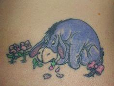 Eeyore Eeyore Tattoo, Cool Tattoos, Tatting, Blue, Ideas, Coolest Tattoo, Bobbin Lace, Needle Tatting, Thoughts