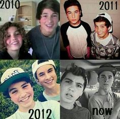 The evolution of Sam Pottorff and Kian Lawley ✨ my two favorite people in the world ✨