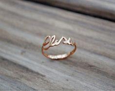 10 off  MY NAME on a RING  Rose Goldplated Sterling by ikcha, $50.00