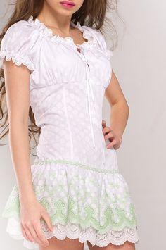 Платье под корсет (белое)