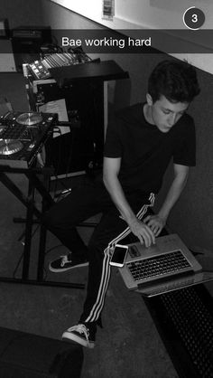 poor myles finally got his rapping back haha :) i just listened to his new song hes writing about his mystery girl -alexis