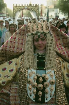 . Bedecked in tribal jewelry. Fassi bride . Morocco