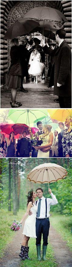 Raining Wedding / Casamento com chuva / Guarda chuva / Noiva / Noivo / Noivos / Detalhes / Inspirações / La Partie Diva