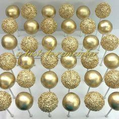 Gold bridal shower cake pops