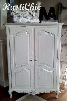 I have this only mine has drawers with doors on top.  This looks so good that maybe Hubby will let me paint it.