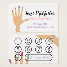 Shop Manicure Manicurist nail artist hand business card created by KnittingandSewing. Home Nail Salon, Nail Salon Design, Nail Salon Decor, Beauty Salon Decor, Beauty Salon Design, Nail Spa, Nail Manicure, Business Card Design, Business Cards