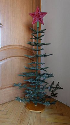 Christmas Tree Plastic New Year Tree Soviet New-Year Tree