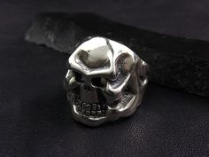 DOUBLE CROSS / TRAVIS WALKER LIL'G Skull Ring