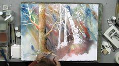 Tree Bark Texture in Watercolor with Linda Baker