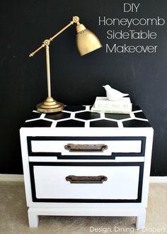 DIY Honeycomb Side Table Using @ScotchBlue Painter's Tape Painter's Tape painter's tape!