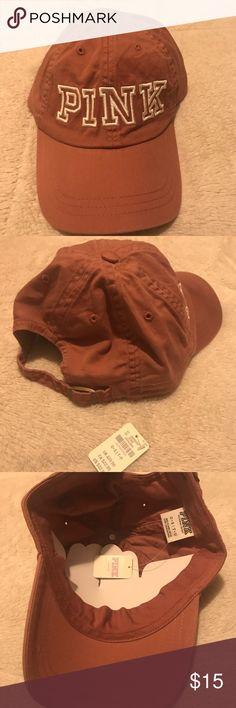 PINK logo cap Brand new unworn pink hat white stitching adjustable strap PINK Victoria's Secret Accessories Hats