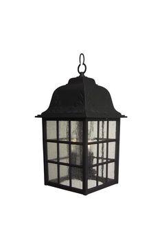 Craftmade Z571 Grid Cage 3 Light Rectangular Outdoor Pendant - 8.5 Inches Wide Matte Black Outdoor Lighting Pendants