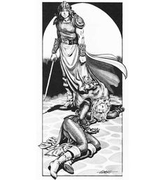 The brief adventures of Aleena the cleric (Larry Elmore, Frank Mentzer's Basic D&D Players Manual, TSR, 1983)