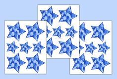 BLUE CAMO DECAL Star Wall Sticker Teen Boy Girl Camouflage Bedroom Kids Room Baby Hunting Nursery Childrens Geometric Art Decor #decampstudios