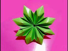 Цветок оригами - корона. Origami flower - exclusive ! Great ideas for room decor. - YouTube