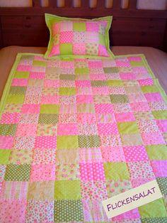 Flickensalat: A quilt for my daughter 2012 A beautifu quilt / patchwork
