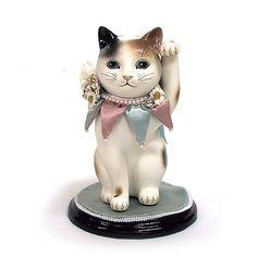 岡馬 勲氏作 招き猫(洋猫)