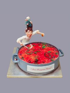 """Торт """"Рататуй / Ratatouille"""" №4104 Sculpted Cakes, Theme Cakes, Baby Shower Diapers, Disney Cakes, Just Cakes, Kitchen Themes, Marvel Vs, Food Cakes, Ratatouille"""