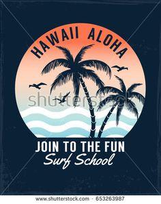 Hawaii Aloha vector illustration for t-shirt and other uses.