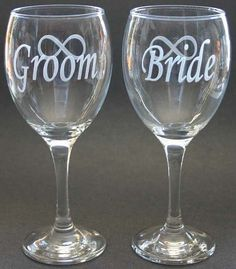 Personalized Etched Wine Glasses Engraved Goblets by MonkeysJewels, $36.00