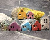 Lucky nr 7...Rustic Miniature Houses for Moss Terrariums or Pot Gardens