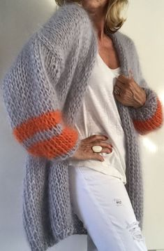 Knitwearlabel PureMe , , PureMe knitwear, made for you! Cardigan Au Crochet, Mohair Sweater, Knit Crochet, Crochet Summer, Crochet Style, Knitting Patterns Free, Knit Patterns, Hand Knitting, Diy Fashion