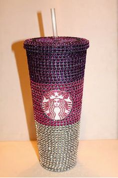Pink Crystal Ombre Starbucks Cold Cup by TheFawnDoe on Etsy