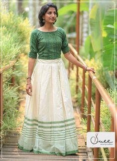 cf561be031c7de Kerala Traditional Saree, Traditional Skirts, Long Skirt And Top, Khadi  Saree, Sarees, Salwar Designs, Blouse Designs, Long Skirt Outfits, Kerala  Saree