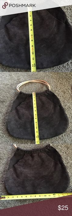 Gap - Large suede brown handbag From Gap- a large brown suede handbag. Has one outside pocket (see pic). No other pockets inside. In excellent condition.  (Due to chronic illness may need up to 7 days to mail out purchase) GAP Bags Shoulder Bags