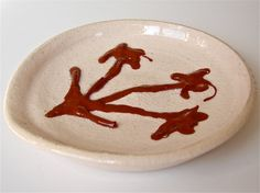 Spoon Rest Wildflower In Country Red and by GreenLeafStudiosEtsy, $12.00
