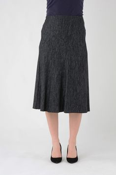 """28"""" Lined panelled skirt with elasticated waist Justelegance.com"""