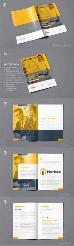Finance and Business Bi-Fold Brochure Template PSD - DL Size