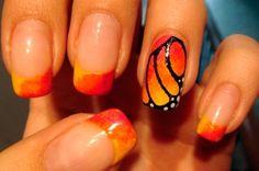 МК маникюр крылья бабочки
