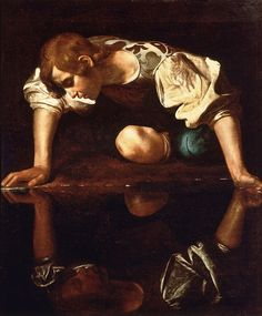 Caravaggio Narcissus painting is shipped worldwide,including stretched canvas and framed art.This Caravaggio Narcissus painting is available at custom size. Baroque Painting, Baroque Art, Italian Baroque, Mirror Painting, Painting Art, Italian Painters, Italian Artist, Michelangelo Caravaggio, Toile Photo