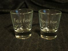 Felix Felicis and Polyjuice Potion shot glasses are the perfect addition to any Harry Potter fans glassware collection!  These 1.5oz shot