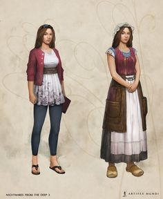 Sometimes only a few touches are needed to adapt a character's clothing from a fairy tale to modern standards. #artifexmundi #fashion #character #adventure   www.artifexmundi.com/ www.facebook.com/NightmaresFromTheDeep