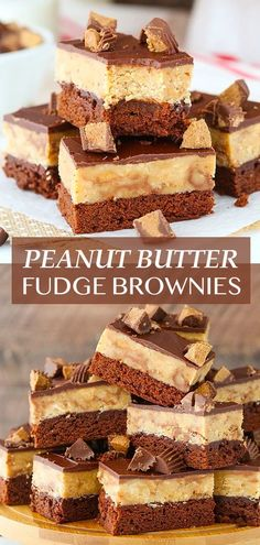 The Ultimate Peanut Butter Fudge Brownies are a peanut butter chocolate dream come true! With a brownie on the bottom, reeses-filled peanut butter fudge in the middle and a layer of chocolate on top, you won't be able to stop at just one! Best Brownies, Fudgy Brownies, White Chocolate Chips, Melting Chocolate, Chocolate Dreams, Reeses Peanut Butter, Delish, Treats, Baking