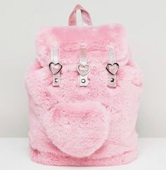 Buy Lazy Oaf Pink Faux Fur Heart Detail Backpack at ASOS. With free delivery and return options (Ts&Cs apply), online shopping has never been so easy. Kawaii Bags, Kawaii Clothes, Visual Kei, Creepy, Mode Kawaii, Kawaii Accessories, Pink Faux Fur, Cute Backpacks, String Bag