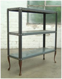Pied de Biche, made from found and re-welded  dexions
