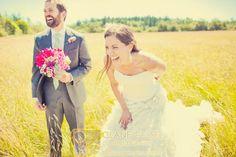 Having fun on your wedding day | Camano Island, WA Wedding | Clane Gessel Photography #Wedding #Laughs #Photography #Field