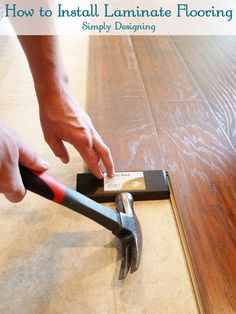 How to Install Floating Laminate Wood Flooring {Part The Installation - Simply Designing with Ashley Wood Floor Texture Ideas & How to Flooring On a Budget Step by Step Diy Wood Floors, Installing Laminate Flooring, Diy Flooring, Wood Laminate, Flooring Ideas, Plank Flooring, Concrete Floors, Hardwood Floors, Home Renovation